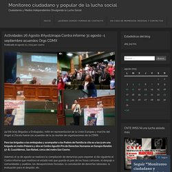 Actividades 26 Agosto #Ayotzinapa Contra informe 31 agosto -1 septiembre acuerdos Orgs CDMX