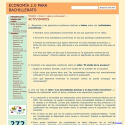 ACTIVIDADES - ECONOMÍA 2.0 PARA BACHILLERATO