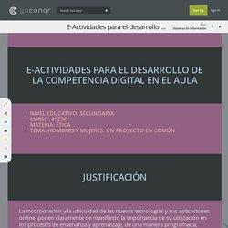 E-Actividades para el desarrollo de la competencia digital en el aula