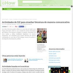 Actividades de ILE para enseñar literatura de manera comunicativa