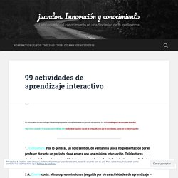 99 actividades de aprendizaje interactivo