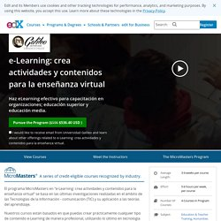 e-Learning: crea actividades y contenidos para la enseñanza virtual