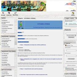 Espagnol - Académie de Grenoble - Séquence : Actividades cotidianas