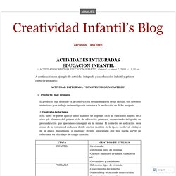 ACTIVIDADES INTEGRADAS EDUCACION INFANTIL