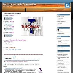 « Actividades de tutoria ESO » Departamento de Orientación