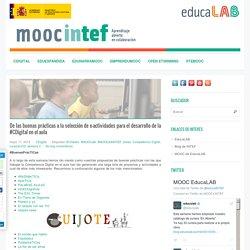 De las buenas prácticas a la selección de e-actividades para el desarrollo de la #CDigital en el aula