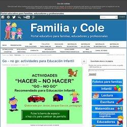 Go - no go: actividades para Educación Infantil