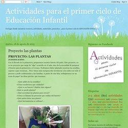 Actividades para el primer ciclo de Educación Infantil: Proyecto las plantas