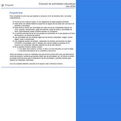 D73. Proyecto. Creación de actividades educativas con JClic