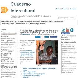 Actividades y ejercicios online para aprender español y otros idiomas