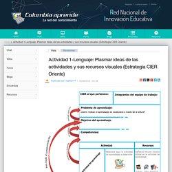 Actividad 1-Lenguaje: Plasmar ideas de las actividades y sus recursos visuales (Estrategia CIER Oriente)