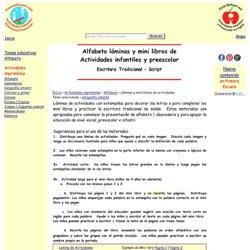 Alfabeto Laminas y Mini-libros de Actividades Infantiles y Preescolar