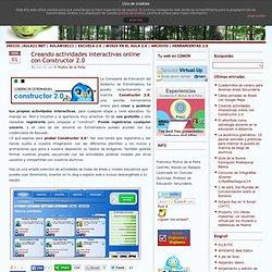 Creando actividades interactivas online con Constructor 2.0