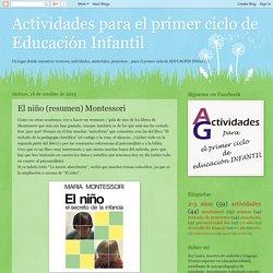 Actividades para el primer ciclo de Educación Infantil: El niño (resumen) Montessori