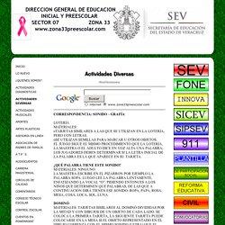 ACTIVIDADES DIVERSAS - Educacion preescolar zona 33