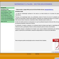 Problemas y actividades de matemáticas con soluciones 1º y 2º de ESO. Pruebas de CDI 3º ESO con solucionario