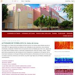 elorientablog: ACTIVIDADES DE TUTORÍA 2015/16. Índice de temas
