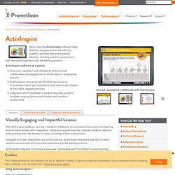 ActivInspire software for the ActivClassroom : Promethean.