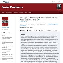 Digital Activism Gap: How Class and Costs Shape Online Collective Action