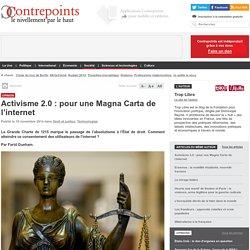 Activisme 2.0 : pour une Magna Carta de l'internet