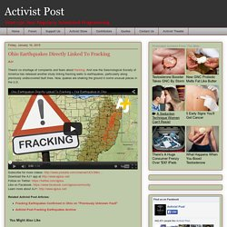 Ohio Earthquakes Directly Linked To Fracking