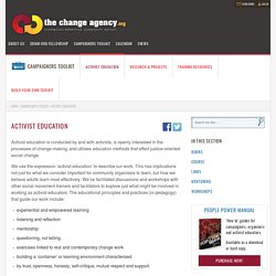 activist education – The Change Agency