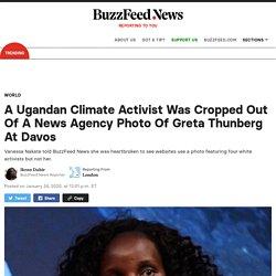 Vanessa Nakate: Ugandan Climate Activist Cropped Out Of AP Photo Featuring Greta Thunberg