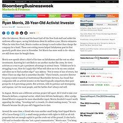Ryan Morris, 28-Year-Old Activist Investor