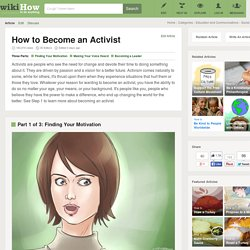 How to Become an Activist: 12 Steps