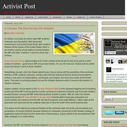 Is Ukraine The Next In Line For Default?