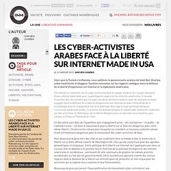 Les cyber-activistes arabes face à la liberté sur Internet made in USA