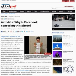 Activists: Why is Facebook censoring this photo?