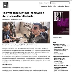 The War on ISIS: Views From Syrian Activists and Intellectuals