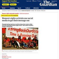 Women's rights activists use social media to get their message out