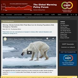 Winning: Climate Activists Ditch Polar Bear Icon As Growing Populations Defy 'Emergency' Narrative
