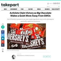 Activists Claim Victory as Big Chocolate Makes a Quiet Move Away From GMOs
