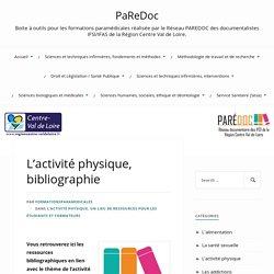 Bibliographie-L'activité physique-PaReDoc