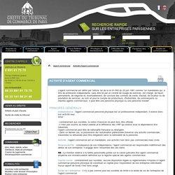 Activité d'agent commercial - Greffe du Tribunal de Commerce de Paris