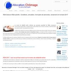 RSA socle et RSA activité : Conditions et montant 2017