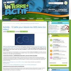 Activité : 12 défis pour réduire les GES dans ton milieu!