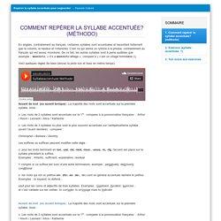 Parcours autonome: repérer la syllabe accentuée (P. Catoire)