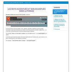 Parcours autonome: mots accentués et non accentués dans la phrase (P. Catoire)