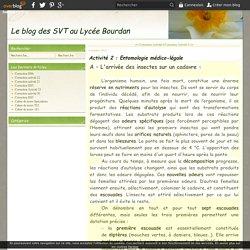 Activité 2 : Entomologie médico-légale - Le blog des SVT au Lycée Bourdan