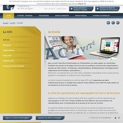 Activité - Centre Français d'exploitation du droit de la Copie
