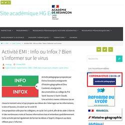 Activité EMI : Info ou Infox ? Bien s'informer sur le virus