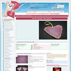 Coeur parfumé - Activité manuelle et bricolage pour enfant