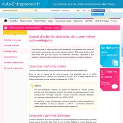 Activité mixte auto-entrepreneur