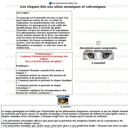 Les risques liés à l'activité interne du globe, www.monanneeaucollege.com