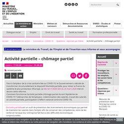 FAQ COVID-19 - Activité partielle – chômage partiel