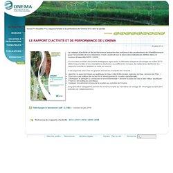 ONEMA - JUIN 2014 - LE RAPPORT D'ACTIVITÉ ET DE PERFORMANCE DE L'ONEMA 2013 VIENT DE PARAÎTRE